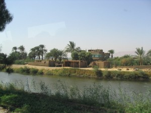 Egyptian village on Nile
